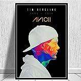 yhnjikl Hot Avicii DJ Music Singer Star Legend Pop Show Póster e Impresiones Pinturas Arte Lienzo de Pared Cuadros para la Sala de Estar Decoración para el hogar 40X60 cm Sin Marco
