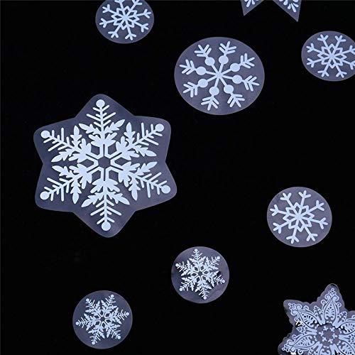 Weihnachten Fenster Aufkleber,Wiederverwendbare Schneeflocke Selbstklebende Xmas Mauer Klammert Sich Aufkleber Statische PVC Abnehmbaren Aufkleber Für Kinder Home Shop Party Fenster Tür Anzeige