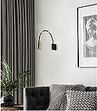 QTWW Aplique de Pared Interior, lámpara de Pared Interior Minimalista, GU10 Pared de Fondo de Sala de Estar Moderna lámpara Minimalista Dorada, lámpara de Sala de Estar Entrada de Dormitorio Lámp