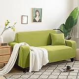 Funda Cubre Sofá,Granos de maíz blanco Juegos de sofás Con funda de almohada Alta elasticidad Fundas decorativas Puede usarse como 1 2 3 4 Plazas prueba de polvo Anti arruga(Size:3 Seater,Color:H)