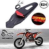 Motocicleta LED Luz trasera Luz de freno Guardabarros trasero con soporte Luz para Todoterreno SMR 690 CR EXC WRF 250 450 125SX XR DRZ KLX KMX WR125