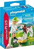 Playmobil Vétérinaire et Veau, Coffre de Figurine 70252 Coloré