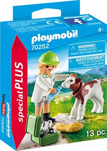 PLAYMOBIL Special Plus 70252 Tierärztin mit Kälbchen, ab 4 Jahren
