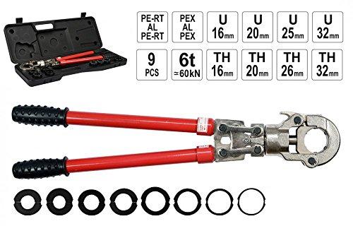Rohr Presszange Pex-Al-Pex Aluverbund-Rohre 16-32 mm Verbundrohr
