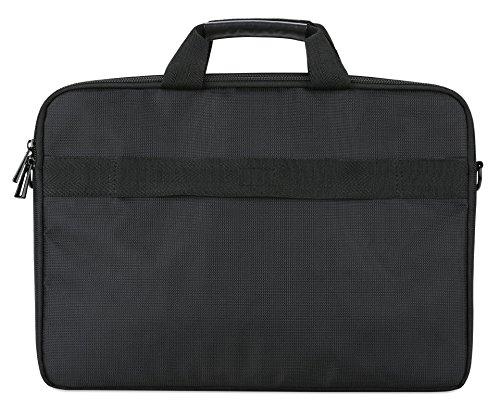 Acer Notebook Carry Case (geeignet für bis zu 14 Zoll Notebooks / Chromebooks: Universelle Schutzhülle mit Schultergurt, - und polsterung, Gurt zum Befestigen an Trolley, extra Fronttasche) schwarz