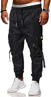 Pantaloni Cargo Uomo,Momoxi Pantaloni Lunghi Autunno e Primavera Uomo con Coulisse Laterali Trousers della di Hip Hop Pant...