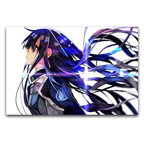 Sword Art Online Sao, Kirigaya Kazuto, regalos de anime, pintura en lienzo, decoración de pared para sala de estar, 40 x 60 cm
