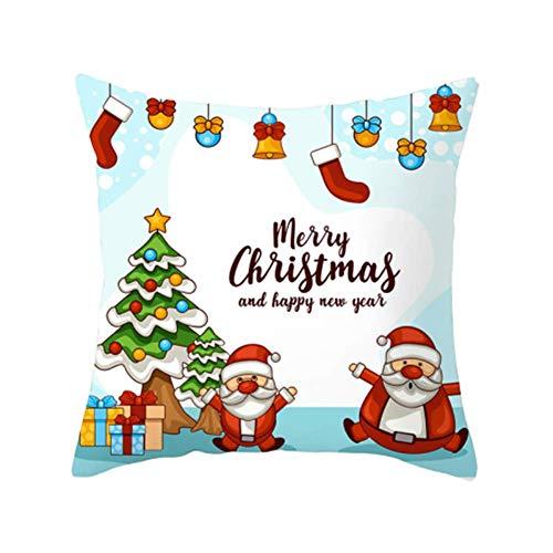 jieqing Fundas Cojines Navidad Almohada de Navidad Funda de Almohada Feliz Navidad Hermosa Funda de Almohada de Navidad Funda de Almohada de Navidad teñida 15