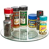 12 Inch Round Lazy Susan Turntable, Tempered Glass Rotating Tray, Serving Plate/Dining Table Top/Spices storage holder (Clear)