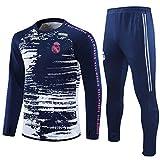 QGGQ Reǎl Mǎdrid - Camiseta de entrenamiento de fútbol para hombre, camiseta de fútbol + pantalones, suéter, competición, fitness, deportes y ocio, manga larga, para regalo