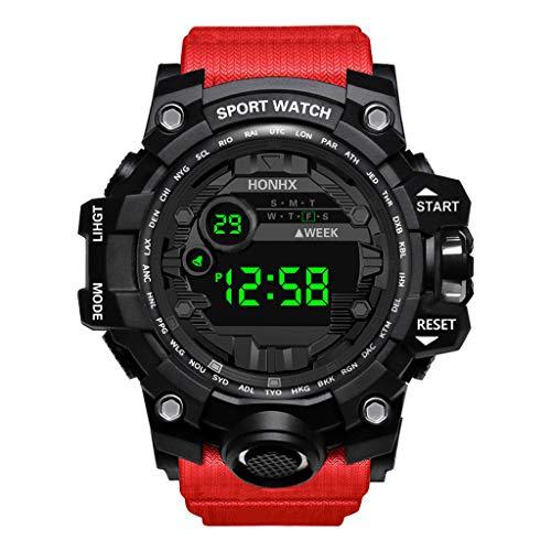 Alwayswin Männer Sport Uhr Herren Digital LED Sportuhr Outdoor Electronic Watch wasserdichte Uhr Luxury Herrenuhr Multifunktional Elektronische Uhr Lässige Uhr Armbanduhr Armbanduhren