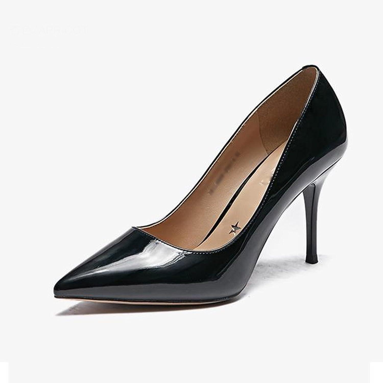 JIANXIN Damen Feine Fersen Und High Heels Und Und Spitzer Einzelner Schuhe Nackte Damenschuhe Frühling. (Farbe   Schwarz, Größe   35)  gemütlich