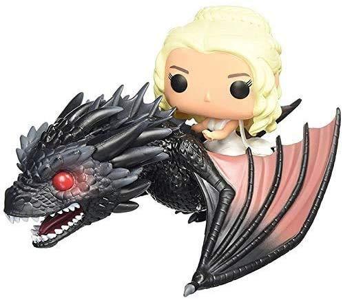 HTDZDX Anime figura de Canción de hielo y fuego Modelo Juguetes -Juego de Tronos Daenerys Targaryen madre dragón Riding Dragón de mano Juegos de construcción - regalo de cumpleaños colección de la dec