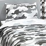 Price Right Home Juego de funda de edredón y funda de almohada reversible para cama individual o individual de EE. UU