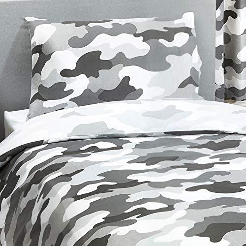 Price Right Home Graue Armee-Tarnung Reversible Einzelbettbezug & Kissenbezug-Set