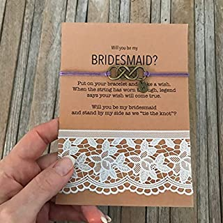 Carrie Clover Personalized Bridesmaid Proposal - Wish Bracelet, Will you Be my Bridesmaid, Be my Bridesmaid, Asking Gifts, Bridesmaid Proposal Gift, B3