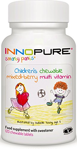 SmartyPants Children's MultiVitamin 120 Chewable Tablets - Mixed Berry Flavour - Made in The UK by Innopure