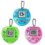 Elektronische Haustier-Spielmaschine, 3Pack Handheld-Spielekonsole Virtuelle Haustiere Tierspielzeug, Retro Geburtstagsgeschenkspielzeug mit Schlüsselbund für Erwachsene und Kinder (zufällige Farbe)