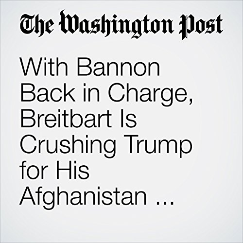 With Bannon Back in Charge, Breitbart Is Crushing Trump for His Afghanistan Speech copertina