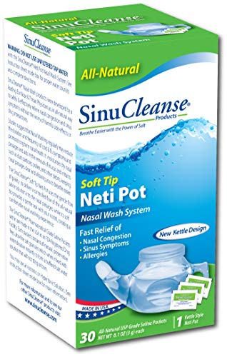 Sinucleanse Neti-Pot System KIT AS SEEN ON TV, Free 30 salt packets, Helps...