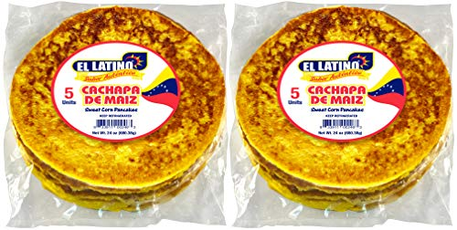 El Latino cachapas, 2 packs of 5 units or 24oz each , Total 10 cachapas, 3lb