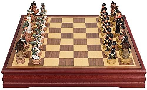 Muyuuu Ajedrez, ajedrez Internacional con Tablero de ajedrez, Grandes Juegos de Madera Juegos de Viajes Juguetes Juguetes Juego de ajedrez de cumpleaños (Color : A)