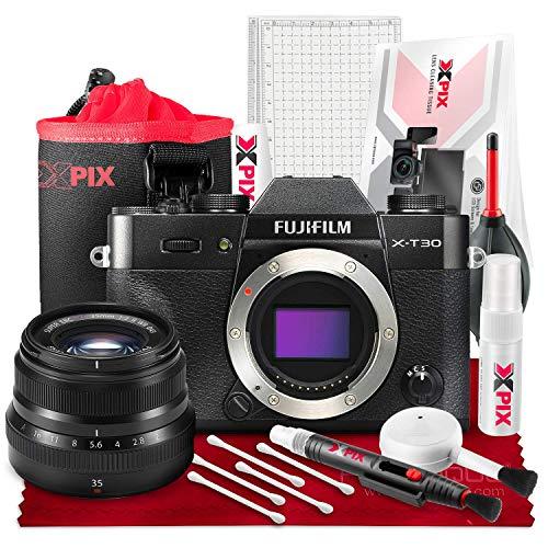 Fujifilm X-T30 4K Wi-Fi Mirrorless Digital Camera with XF 35mm f/2 R WR Lens and Accessories Kit