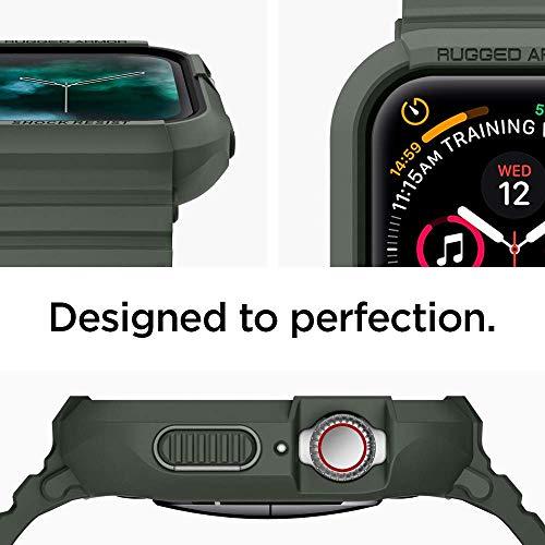 【Spigen】AppleWatchバンド一体型ケース【Series5/Series444mm対応】落下衝撃吸収ラギッド・アーマープロ062CS26016(ミリタリー・グリーン)