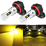 Phinlion 3800 Lumens H8 H11 LED Yellow Fog Light Bulbs Super Bright H11LL H16 LED Bulb Replacement for Car Truck DRL and Fog Lights Lamps, 3000K Golden Yellow