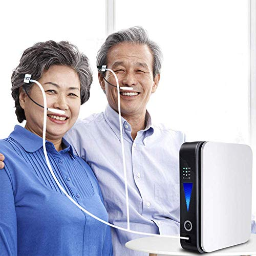 YHNMK Mini Portable Oxygen Concentrator/1L/minRechargeable Oxygen Machine 93% High Purity Air Purification Machine,with Anion Function - Home Travel