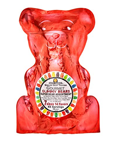 Happy Yummies Worlds Best Tasting Gourmet Gummies Super Bear Assortment 3lb