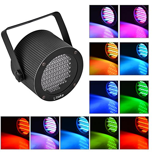 Rabusion New for 86 RGB LEDs Color Mixing Stage Light UFO Lamp Laser Projector Party Club Dj