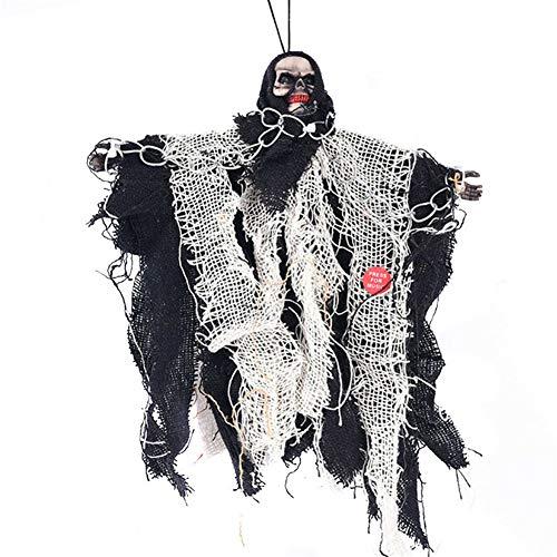 Ocamo Geburtstagsgeschenk-Halloween Dekoration Horrible Hanging Skull Ghost Halloween Dekoration für Party Haunted House E2S