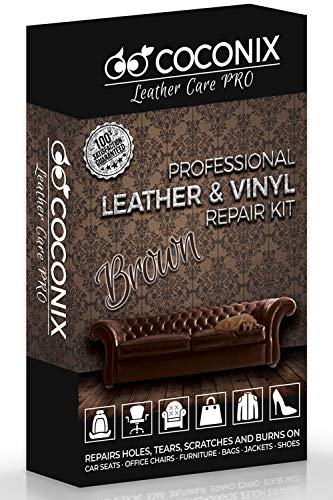 Coconix Brown Leather Repair Kits for Couches - Vinyl & Upholstery Repair Kit for Car Seats, Sofa & Furniture - Liquid Scratch Filler Formula Repairs Couch Tears & Burn Holes