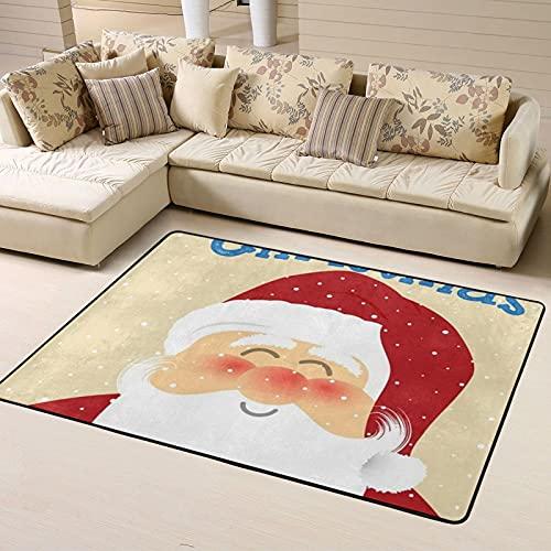 Alfombra de Dormitorio Xmas Non Slip Area Rugs 63 X 48 Inch, Carpet for Home Dining Room Playroom Living Room Large Floor Rug Floor Mat