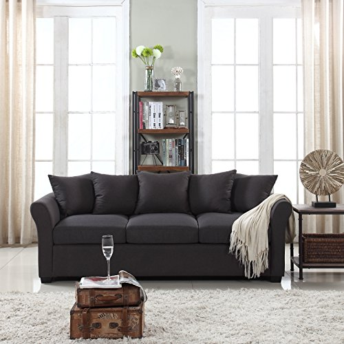 Divano Roma Furniture Classic Sofas, Dark Grey