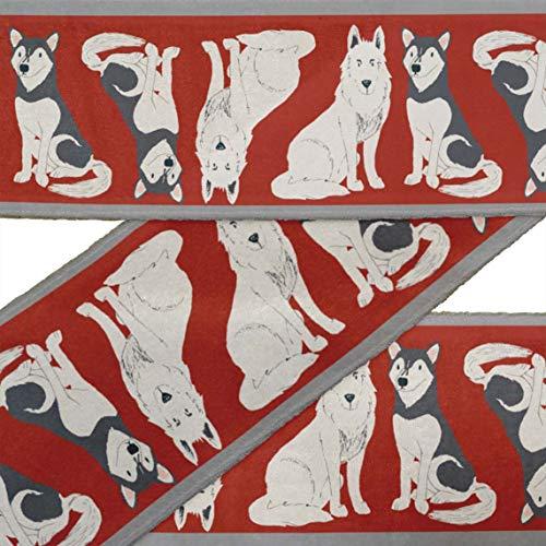 IBA Indianbeautifulart Rojo Husky siberiano y pastor alemán perro cordones de tela...