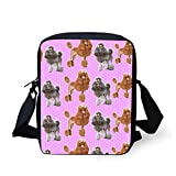 Nopersonality Girls Womens Small <span class='highlight'>School</span> Travel <span class='highlight'>Messenger</span> <span class='highlight'>Satchel</span> Shoulder <span class='highlight'>Bag</span> Funky Poodle <span class='highlight'>Polka</span> Dot Print Phone Hand<span class='highlight'>bag</span> Pink
