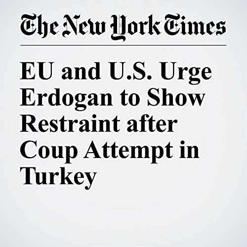 EU and U.S. Urge Erdogan to Show Restraint after Coup Attempt in Turkey cover art