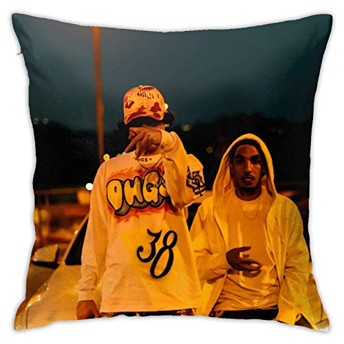 XCNGG Funda de almohadaShoreline Mafia Merch Square Cotton Linen Throw Pillow Case with Zipper, Decorative Accent Pillow Cover for Car, Bedrooms and Sofa 18x18 Inch