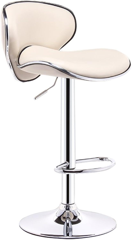 DR - Bar Chair, Fashion Hair Salon Chair, Cashier Swivel Chair, Lounge Chair, high Chair, Continental Breakfast Chair (11 colors, 2 Sizes) Barstools (color   2 , Size   38.5cm)