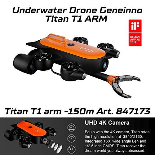 Geneinno Unterwasserdrohne Mit Roboterarm Titan 150m T6T-1-150BL Underwater World Angeln Aufnahme 847173