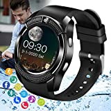 Peakfun Smart Watch,Android Smartwatch Touch Screen Bluetooth Smart Watch with SIM Card Slot & Camera Wrist Phone Watch Waterproof Sports Fitness Tracker Watch for Android iOS Phones Women Men Kids