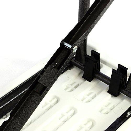 Partybank Klappbank 180 x 25 x 41 cm Bierbank bis 200 kg Gartenbank Garnitur robust stabil wetterfest Kunststoff für 4 Personen Farbe wählbar schwarz weiß (weiß) - 4