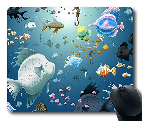 Virtual Aquarium Personalisierte benutzerdefinierte Standard Oblong Mouse Pad Gaming Mousepad -101834