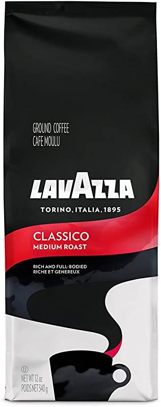 Lavazza Classico Ground Coffee Blend Medium Roast 12 Ounce Bag