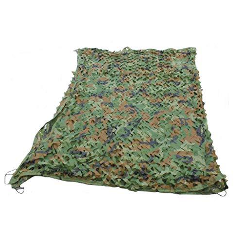 Woodland Green Army Net Filet de Camouflage Sun-Block Mesh Shade Tissu Oxford Filet Tactique pour Wargame, Sports & Autres activités de Plein air Camouflage Party Decoration