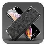 人気モデル高級電話ケースiPhone X XS 11プロマックスXR布ソフトシリコン電話ケースiPhone 7 8 6プラス生地カバーCoque-Black-For iPhone 6 6s