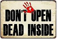 SUDISSKM ゾンビの内側の死んだを開かない警告