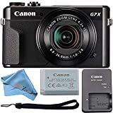 Canon Powershot G7X Mark II Digital Camera 20.1 MP 4.2 X Optical Zoom with 1 Inch Sensor and LCD Screen and Built-in WiFi/NFC Enabled (with Camera Cloth)
